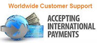 We Accept International Payments